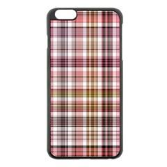 Plaid, Candy Apple Iphone 6 Plus Black Enamel Case
