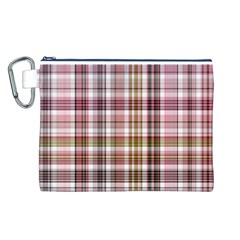 Plaid, Candy Canvas Cosmetic Bag (L)