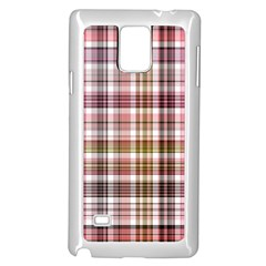 Plaid, Candy Samsung Galaxy Note 4 Case (white)