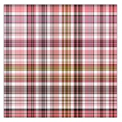 Plaid, Candy Large Satin Scarf (Square)