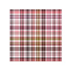 Plaid, Candy Small Satin Scarf (Square)