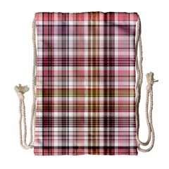Plaid, Candy Drawstring Bag (Large)