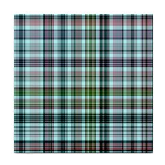 Plaid Ocean Tile Coasters