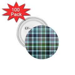Plaid Ocean 1 75  Buttons (100 Pack)