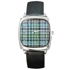 Plaid Ocean Square Metal Watches