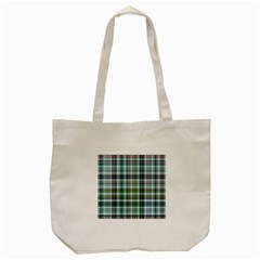 Plaid Ocean Tote Bag (Cream)