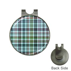 Plaid Ocean Hat Clips With Golf Markers