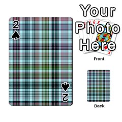 Plaid Ocean Playing Cards 54 Designs