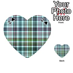 Plaid Ocean Playing Cards 54 (Heart)