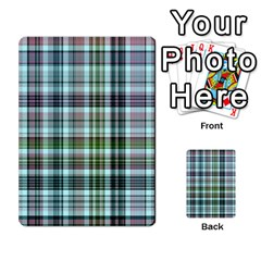 Plaid Ocean Multi Purpose Cards (rectangle)