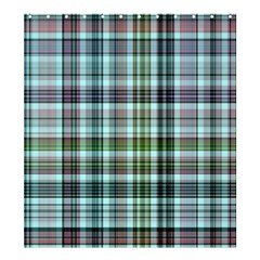 Plaid Ocean Shower Curtain 66  x 72  (Large)