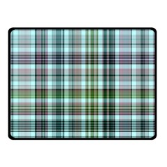 Plaid Ocean Fleece Blanket (small)