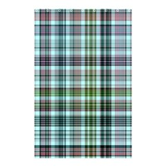 Plaid Ocean Shower Curtain 48  x 72  (Small)