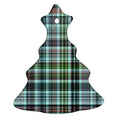 Plaid Ocean Christmas Tree Ornament (2 Sides)