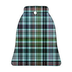Plaid Ocean Bell Ornament (2 Sides)