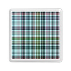 Plaid Ocean Memory Card Reader (square)