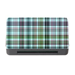 Plaid Ocean Memory Card Reader with CF