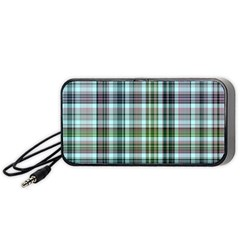 Plaid Ocean Portable Speaker (Black)