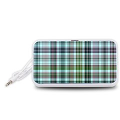 Plaid Ocean Portable Speaker (White)