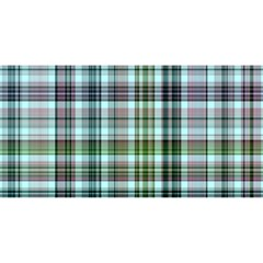 Plaid Ocean YOU ARE INVITED 3D Greeting Card (8x4)