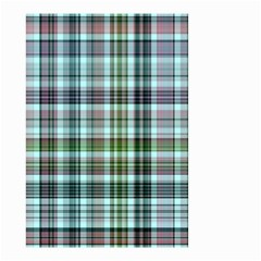 Plaid Ocean Small Garden Flag (Two Sides)