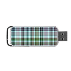 Plaid Ocean Portable USB Flash (Two Sides)