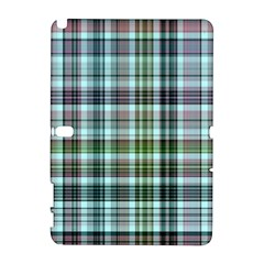 Plaid Ocean Samsung Galaxy Note 10 1 (p600) Hardshell Case