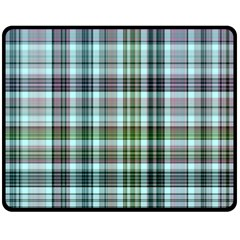Plaid Ocean Double Sided Fleece Blanket (Medium)