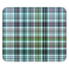 Plaid Ocean Double Sided Flano Blanket (Small)