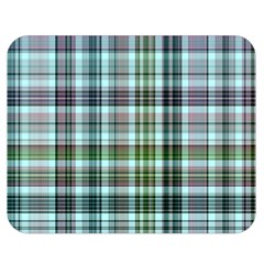 Plaid Ocean Double Sided Flano Blanket (Medium)