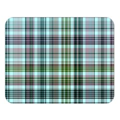 Plaid Ocean Double Sided Flano Blanket (Large)