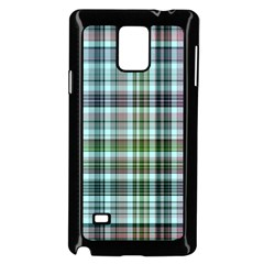 Plaid Ocean Samsung Galaxy Note 4 Case (Black)