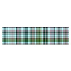 Plaid Ocean Satin Scarf (oblong)