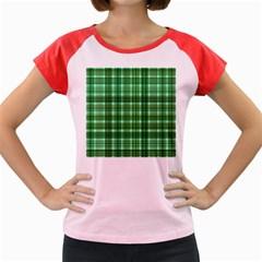 Plaid Forest Women s Cap Sleeve T-Shirt