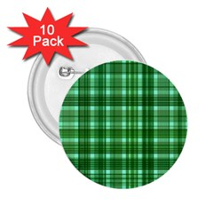 Plaid Forest 2 25  Buttons (10 Pack)