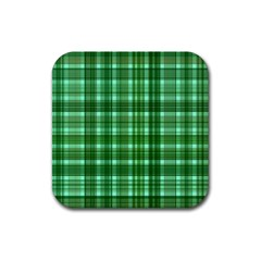Plaid Forest Rubber Square Coaster (4 Pack)