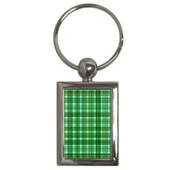 Plaid Forest Key Chains (rectangle)