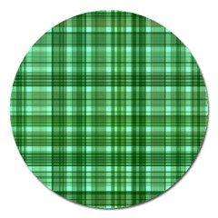 Plaid Forest Magnet 5  (round)