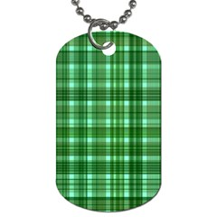 Plaid Forest Dog Tag (one Side)