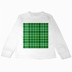 Plaid Forest Kids Long Sleeve T-Shirts