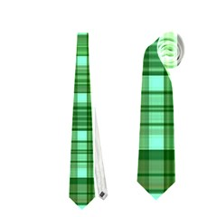 Plaid Forest Neckties (one Side)
