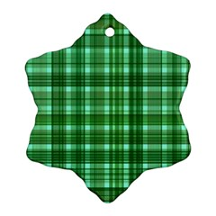 Plaid Forest Snowflake Ornament (2-Side)