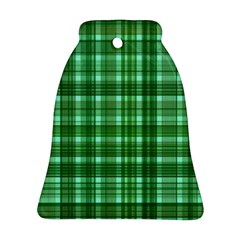 Plaid Forest Bell Ornament (2 Sides)