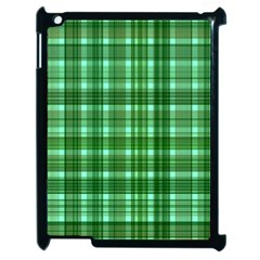 Plaid Forest Apple Ipad 2 Case (black)