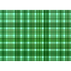 Plaid Forest Birthday Cake 3D Greeting Card (7x5)