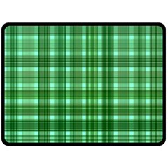 Plaid Forest Double Sided Fleece Blanket (large)