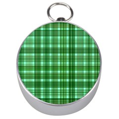 Plaid Forest Silver Compasses