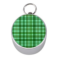 Plaid Forest Mini Silver Compasses