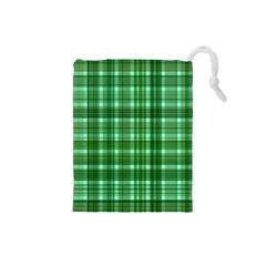 Plaid Forest Drawstring Pouches (small)