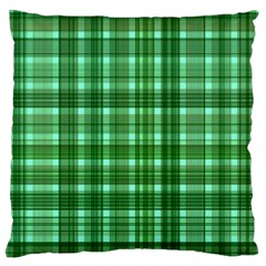 Plaid Forest Large Flano Cushion Cases (Two Sides)